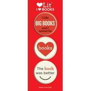 I Heart Books 3-Button Assortment (Other)