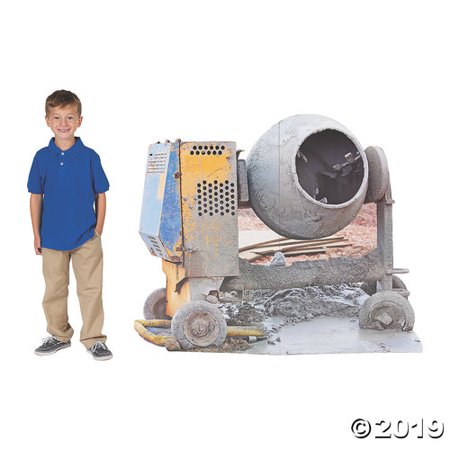 Construction VBS Cement Mixer Cardboard Stand-Up