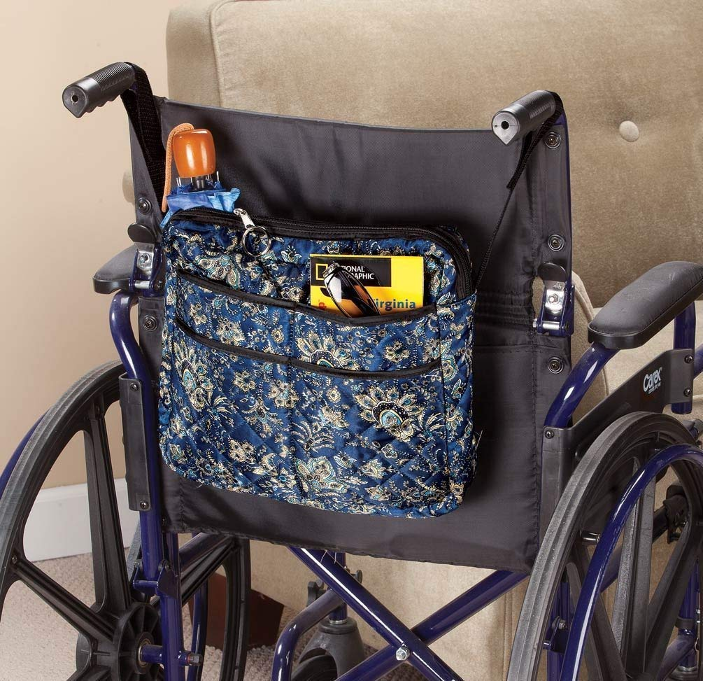 Walker/Wheelchair Bag Walker Accessories Walker Bags Wheelchair Accessory Daily Living & Mobility AIDS Paisley Color