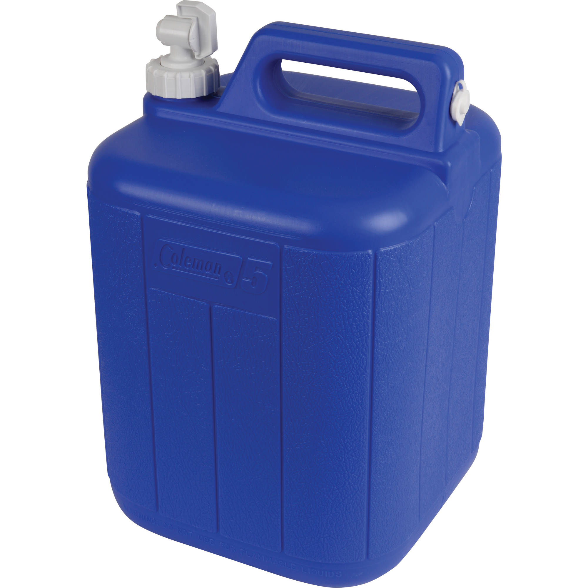 original coleman polylite 5 gallon water jug container for camping hiking blue 6784357707556 ebay. Black Bedroom Furniture Sets. Home Design Ideas