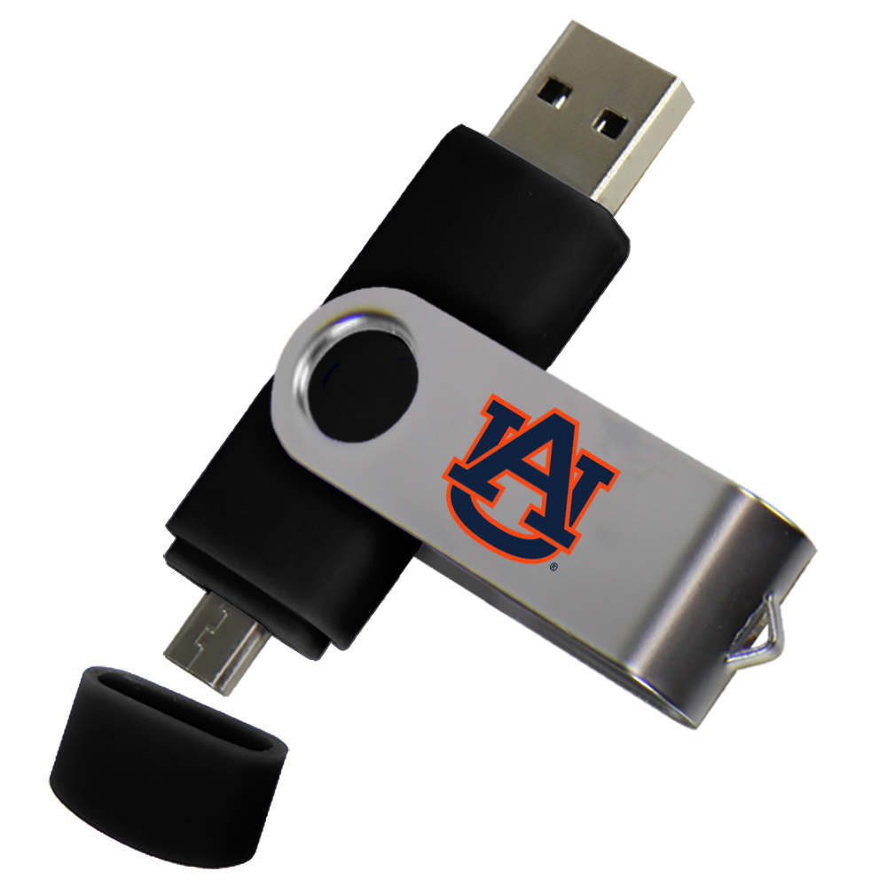 Auburn Tigers Dual Pro Micro to USB Drive 16GB Black