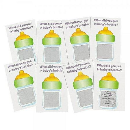 "Baby Shower Scratch Tickets. Baby Shower Scratch-n-win Tickets. Great Game 24 Pack 4 1/4"" X 2"". Cardboard."