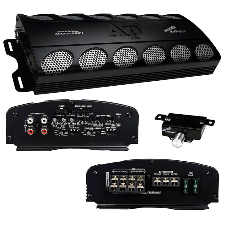 Audiopipe APCLE-2004 2000 Watts 4 Channel Class AB Mono Amplifier