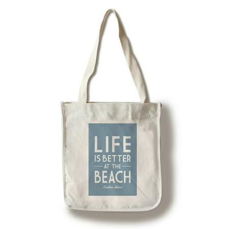 - Catalina Island - Life is Better At The Beach - Simply Said - Lantern Press Artwork (100% Cotton Tote Bag - Reusable)
