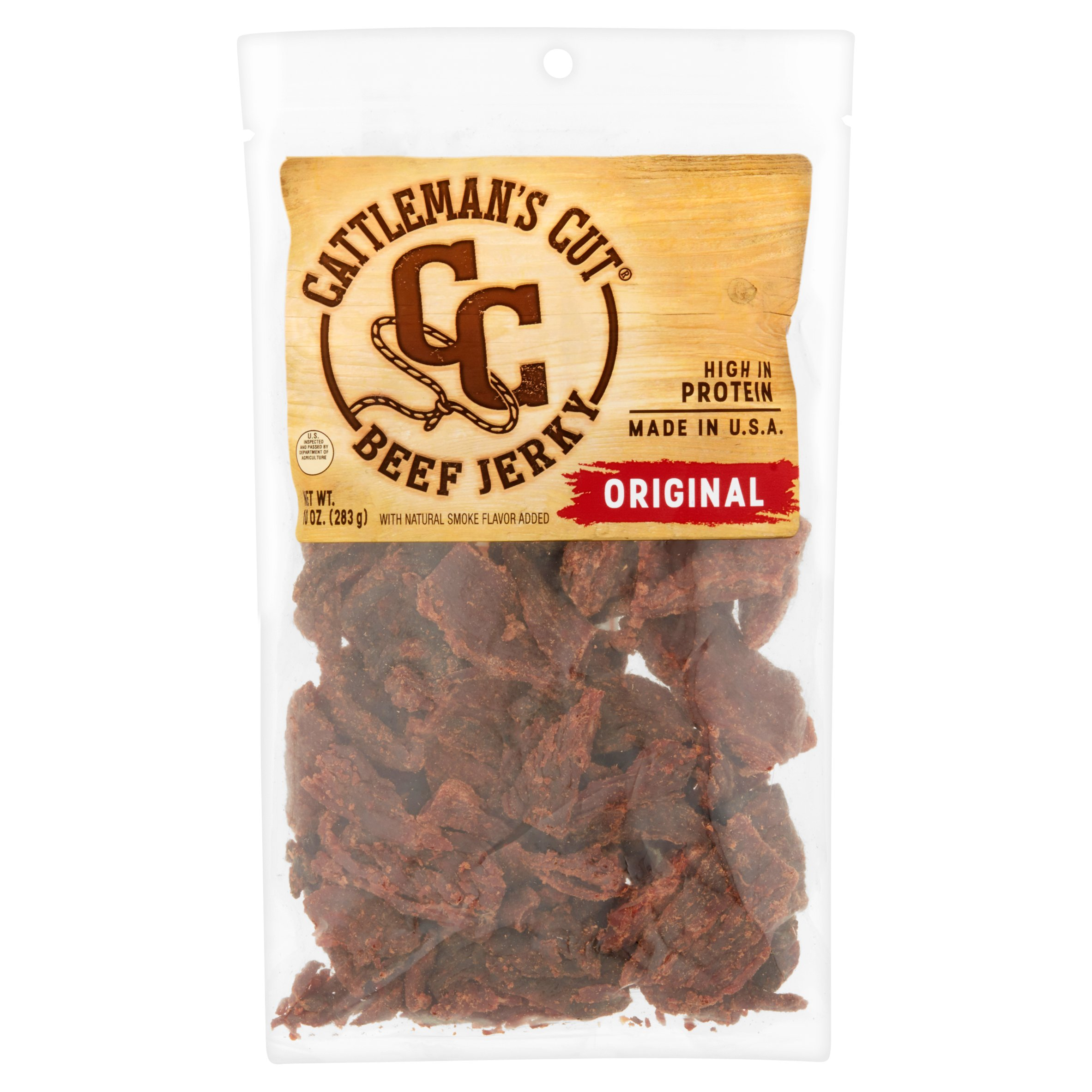 Cattleman's Cut Original Beef Jerky, 10 oz by Oberto Brands