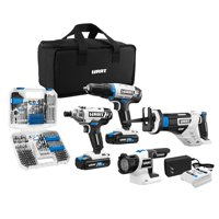 HART 20-Volt Cordless 4-Tool Combo Kit with 200-Piece Accessory Kit and 16-inch Storage Bag, (2) 1.5Ah Lithium-Ion Batteries