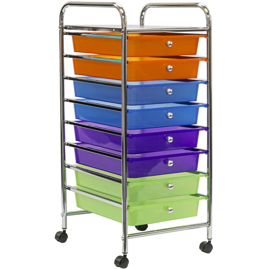 Perfect Sorbus 8 Drawer Organizer Rolling Cart , Features Storage Bins On Wheels,  Multi Color