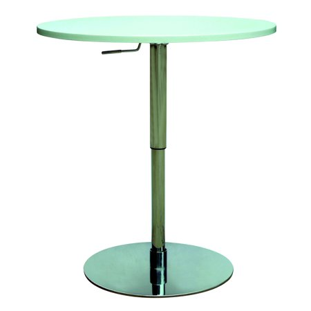 Chintaly John Pneumatic Gas Lift Adjustable Height Pub Table In White