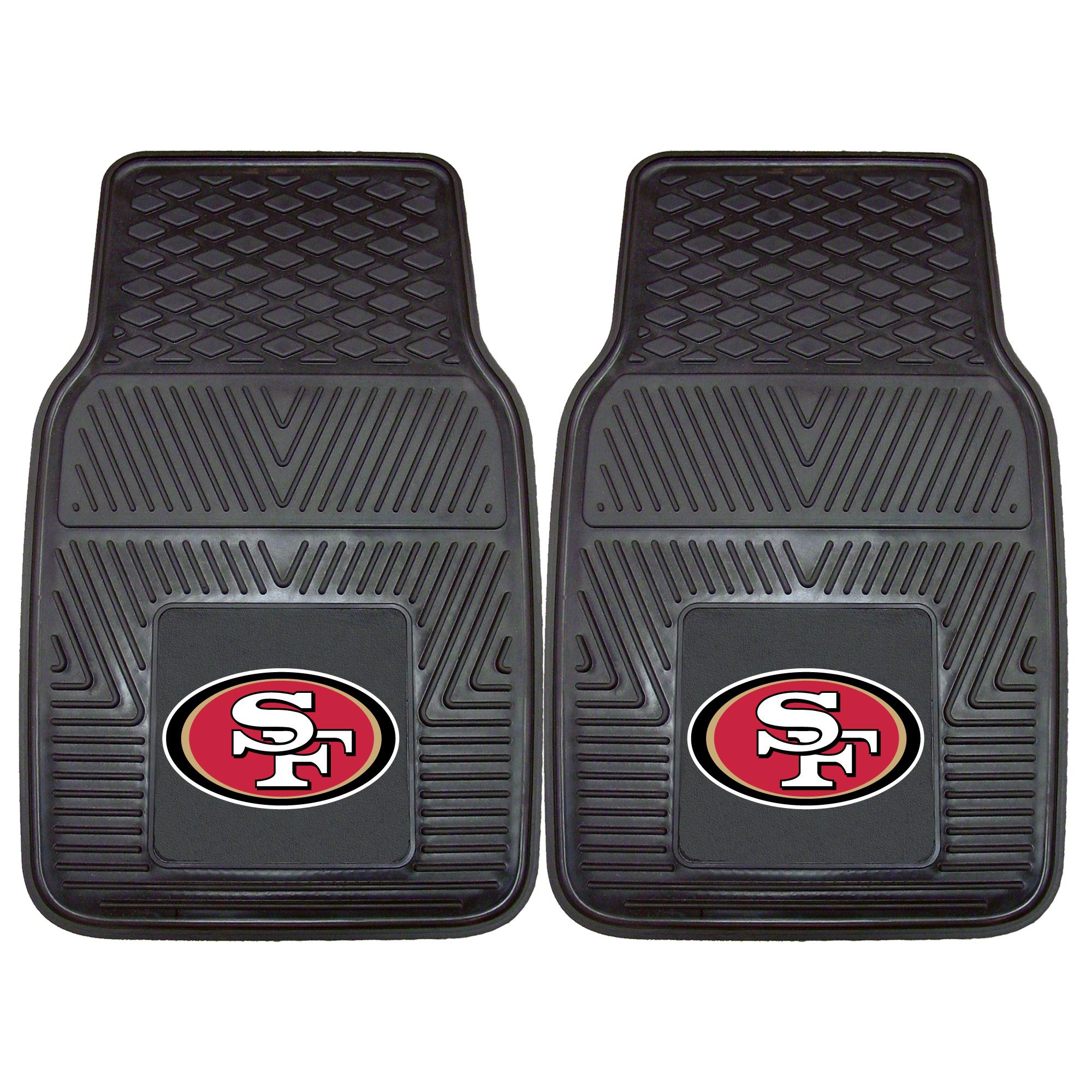 "San Francisco 49ers 2-pc Vinyl Car Mats 17""x27"""