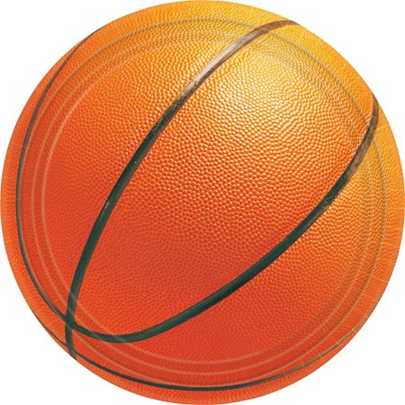 Basketball Luncheon Plates (8 Pack) - Party Supplies