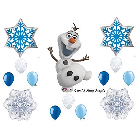 FROZEN OLAF BLUE SNOWFLAKES Birthday party Balloons Decoration Supplies Snowman - Blue Snowflakes Decorations