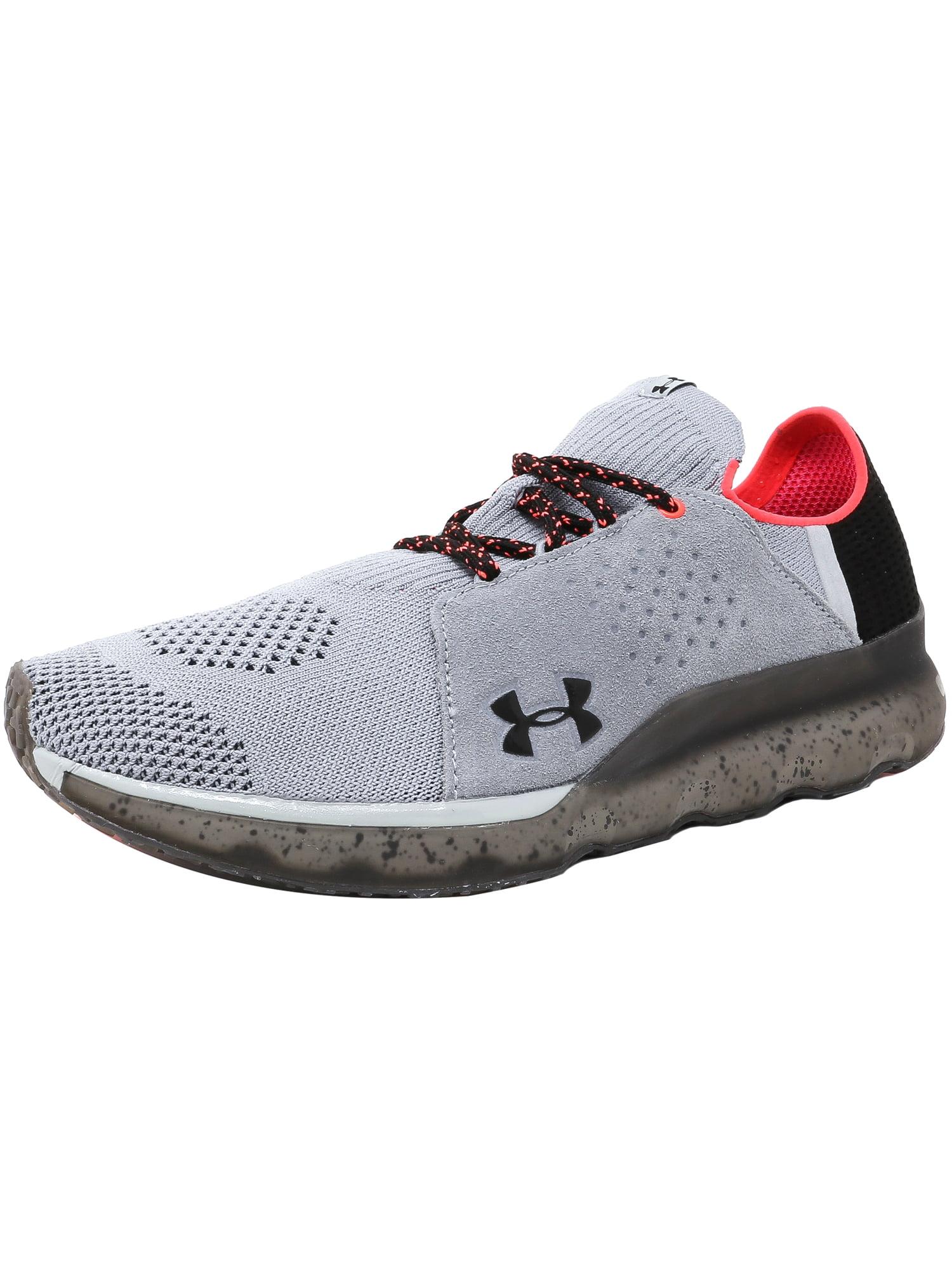 Under Armour Men's Threadborne Reveal Overcast Gray / Marathon Red Black Ankle-High Fabric Training Shoes - 8M
