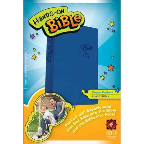 Hands-On Bible: New Living Translation, Paper Airplane, Leatherlike