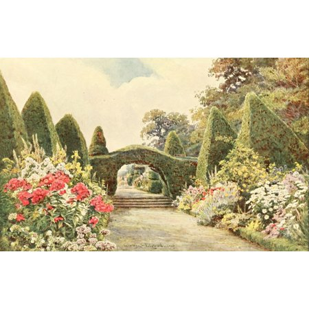 Some English Gardens 1904 Northiam Canvas Art   George S Elgood  18 X 24