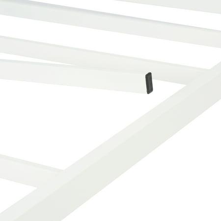 "Mainstays 14"" Heavy Duty White Steel Slat Bed Frame, Multiple Sizes"