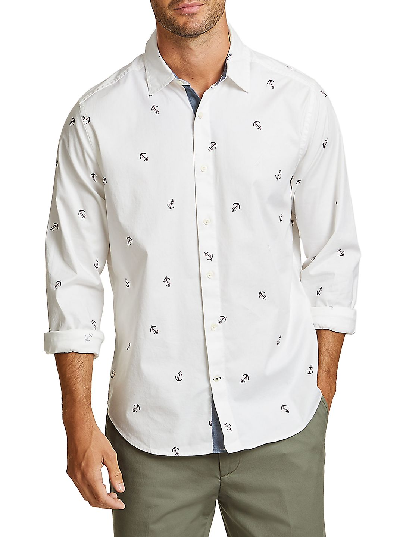 Anchor Printed Button-Down Shirt
