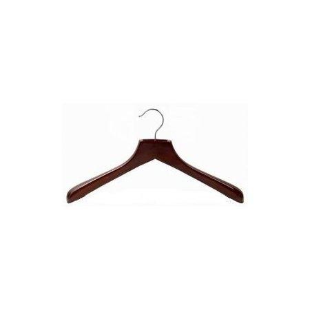 Contoured Deluxe Wooden Coat Hanger (Walnut &