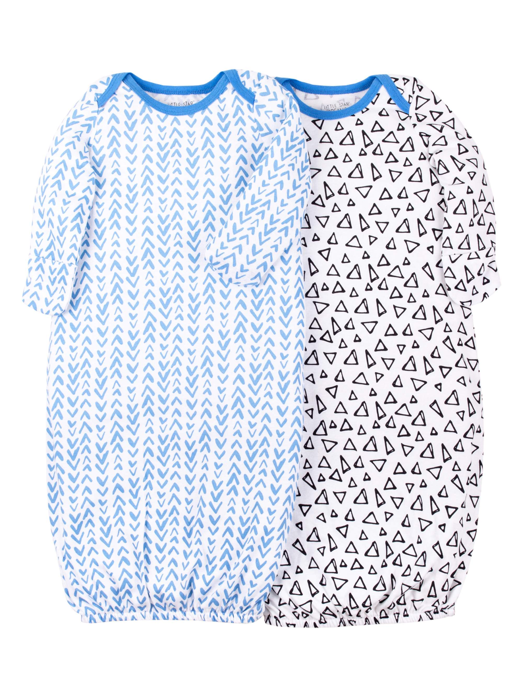 Long Sleeve Pajama Gowns (Newborn Baby Boys)