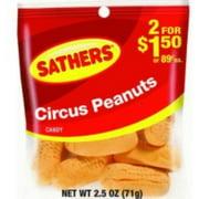 Sathers Circus Peanuts 12 pack (2.5oz per pack) (Pack of 4)