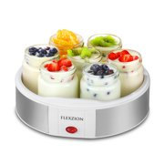 Best Yogurt Makers - Flexzion Maker Machine with 7 Yogurt Containers Glass Review