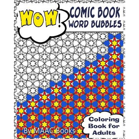 Comic Book Word Bubbles Coloring For Adults