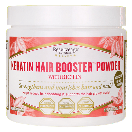 Reserveage Nutrition Keratin Hair Booster Powder with Biotin 2.75 oz Pwdr