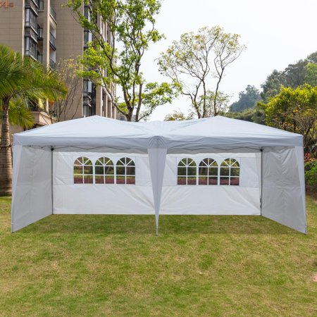 Zimtown 10' x 20' Outdoor EZ POP UP Party Tent Patio Wedding Canopy Gazebo Pavilion Car Tent W/4Side Walls