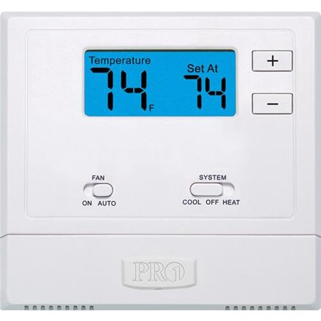 Pro1 Iaq T601-2 Single-stage 1 Hot/1 Cold Non-programmable Thermostat Battery or Hardwired
