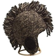 CH81 Black Wool-Mohair Mohawk Hat with Fleece