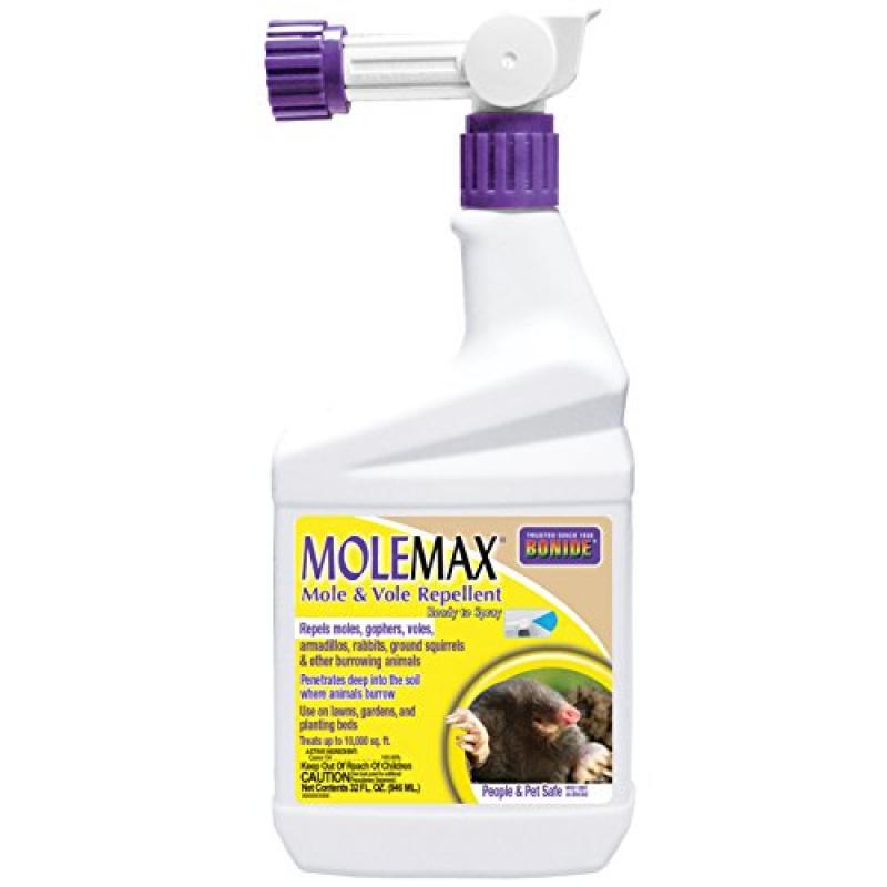 Bonide Product 690 Ready to Spray Mole Repellent, Quart
