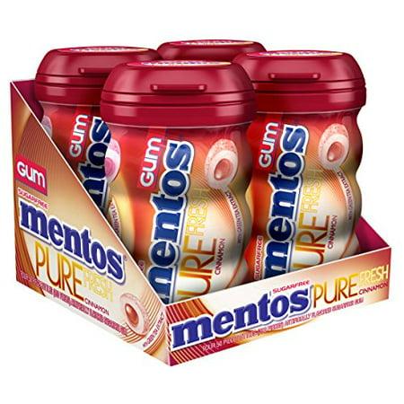 Mentos Big Bottle Gum, 6 Count - Cinnamon, 4 Pack