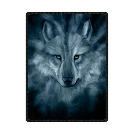 CADecor Wolf Fleece Blanket Throw Blanket 58x80 inches