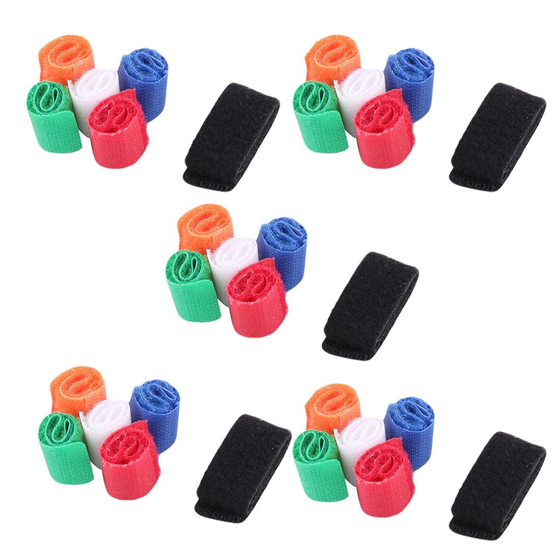 Unique Bargains Home Nylon Self-adhesive Management Strap Ties Fastener Hook Loop Tape 30 Pcs
