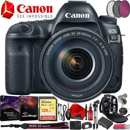EOS 5D Mark IV EF 24-105mm f/4L IS II USM Lens Kit with 128GB Memory