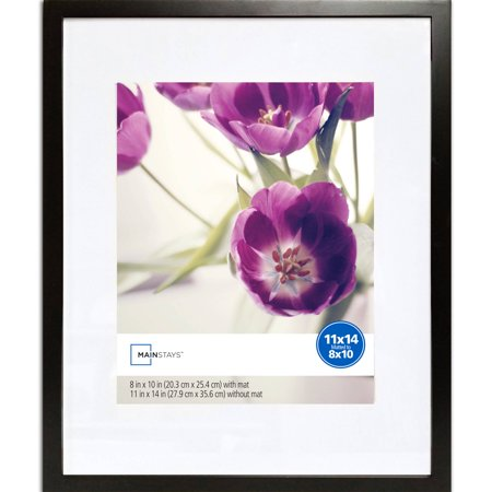 Mainstays 11x14 Matted to 8x10 Linear Frame, Black](Cheap 8x10 Frames)