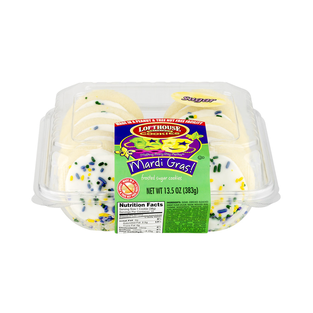 The Bakery Mardi Gras Frosted Sugar Cookies, 10 ct, 13.5 OZ