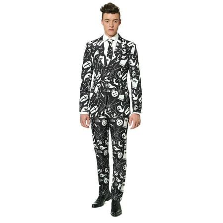 Suitmeister Men's Halloween Black Icons Halloween Suit