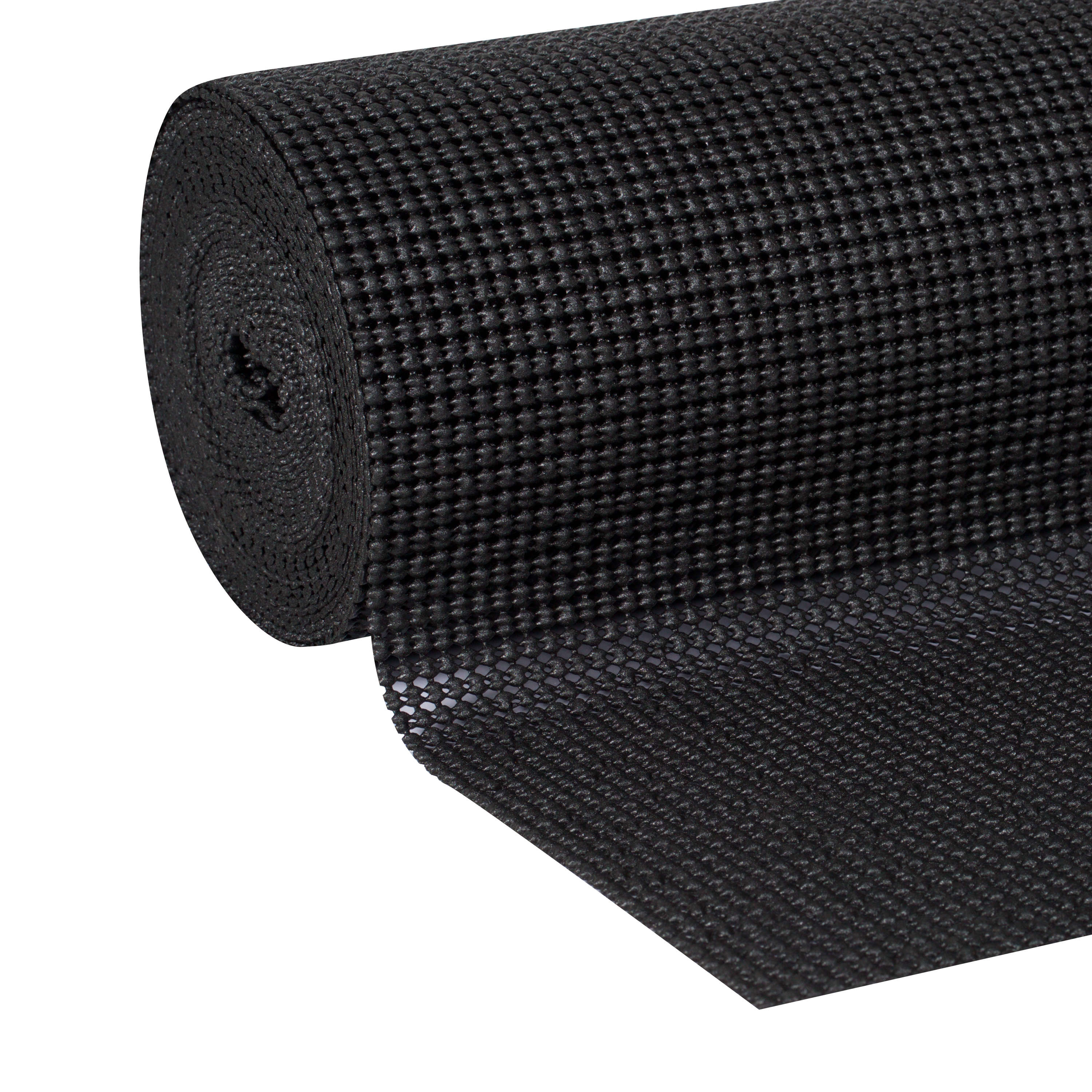 Duck Brand Select Grip Shelf Liner, 12 In. x 20 Ft., Black