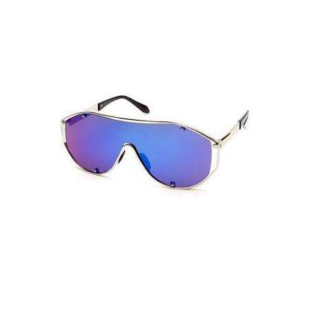 Large Oversized Shield Women Sunglasses Huge XXL Frame Aviator Futuristic (Huge Aviator Sunglasses)