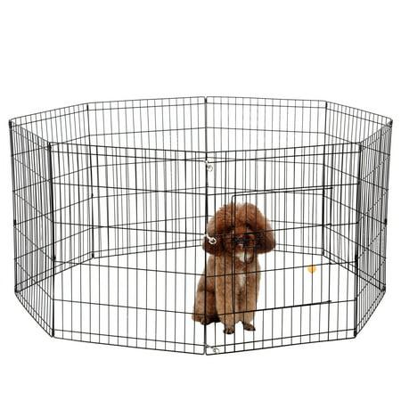 Ollieroo Dog Playpen Exercise Pen Cat Fence Pet Outdoor Indoor Cage 8 Panel