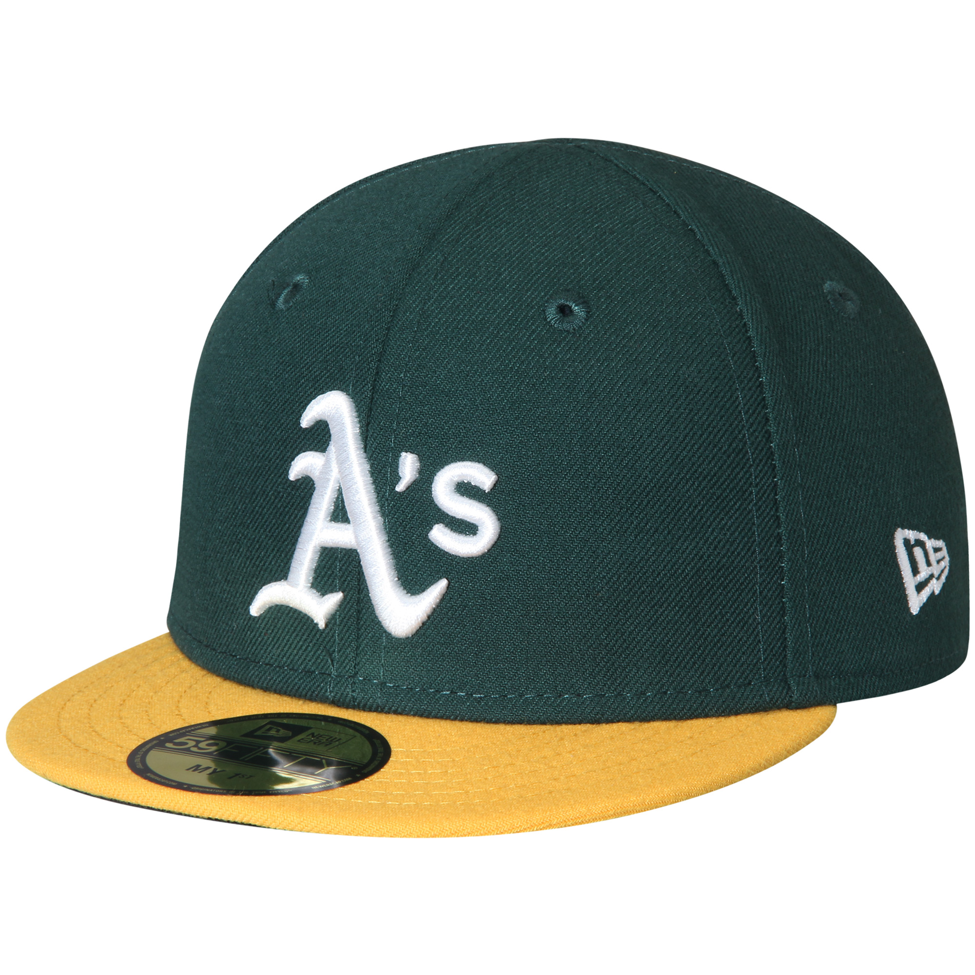 Oakland Athletics New Era Infant Authentic Collection On-Field My First 59FIFTY Fitted Hat - Green - 6