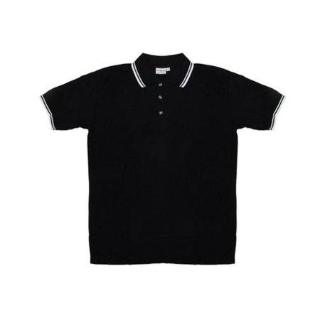 - Men's Black Knit Pullover Golf Polo Shirt - X-Large