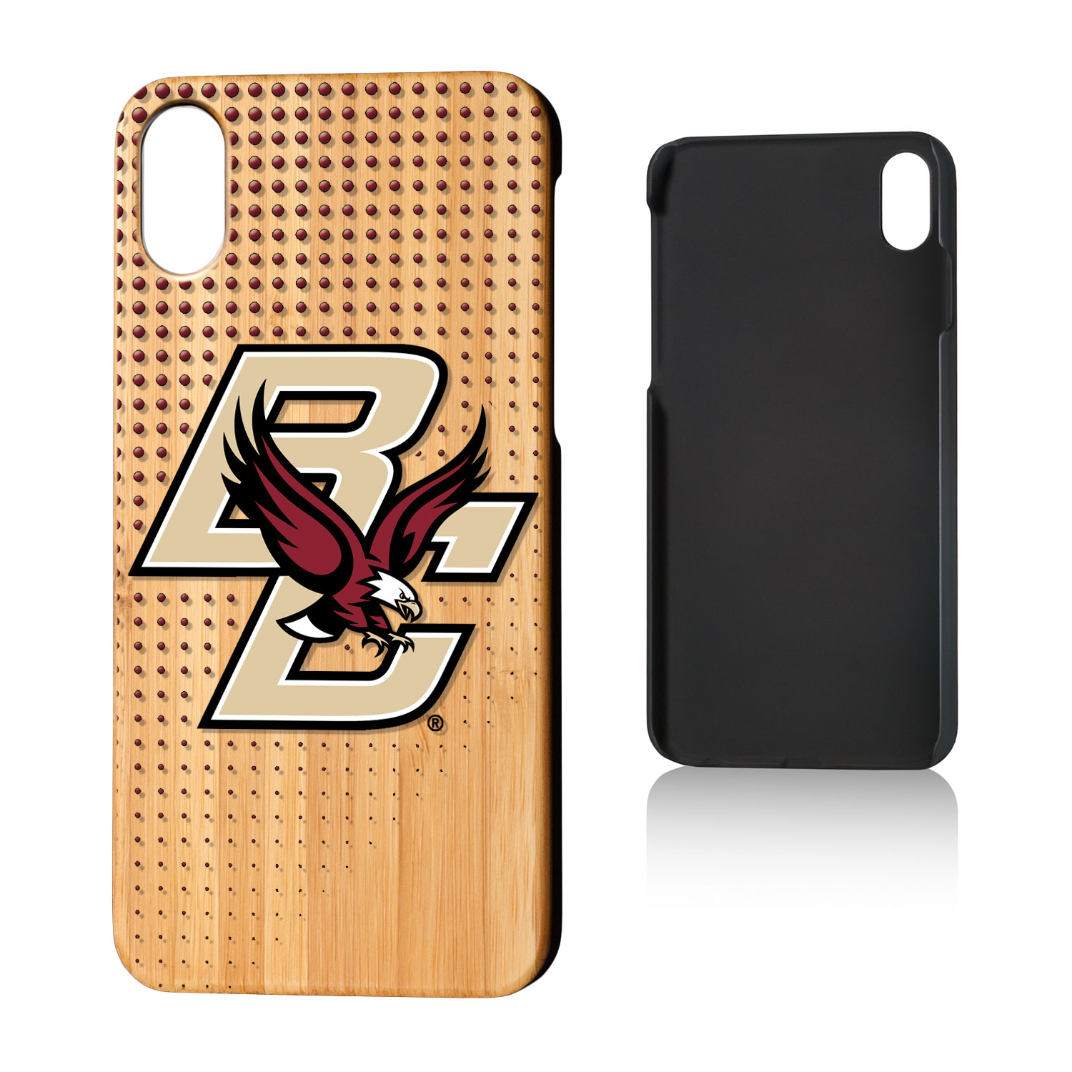 BC Boston College Eagles Dots Bamboo Case for iPhone X