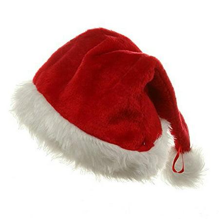 Red White Faux Fur Plush Santa Clause Christmas Hat