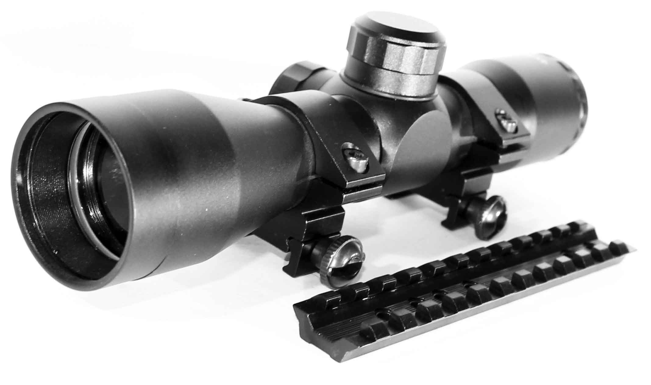 Hunting scope mildot reticle with Scope Base Mount For Marlin 336-Matte Black, single rail mount by