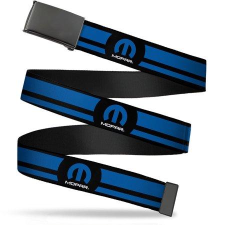 mopar automotive part company blue stripes web belt ()