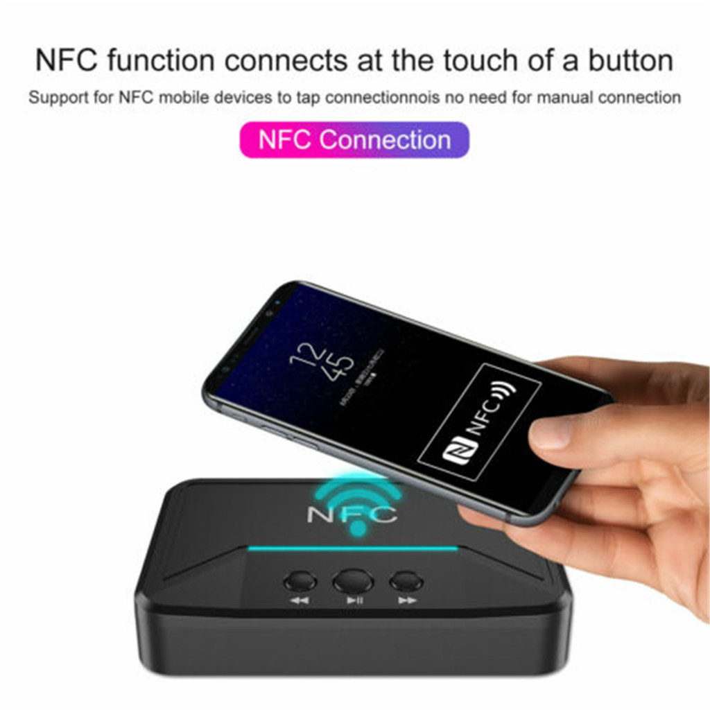 Nfc Receiver 5 0 Aptx Ll Rca 3 5mm Aux Audio Adapter Wireless Bluetooth Walmart Com Walmart Com