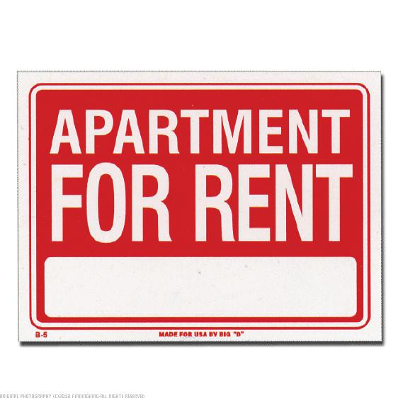 "Apartment For Rent Sign 12"" x 16"" 24Pcs"