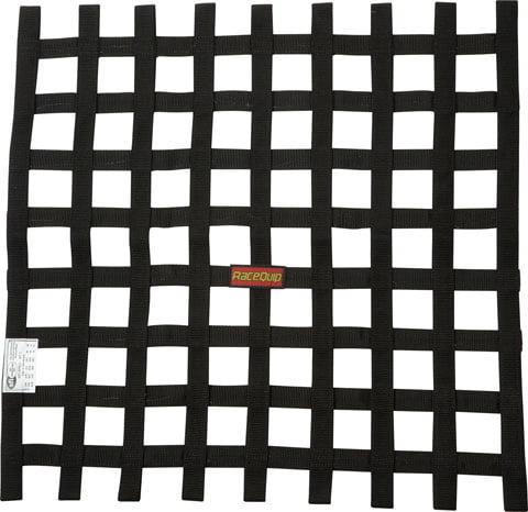 RACEQUIP/SAFEQUIP 21 x 24 in Rectangle Black Window Net P/N 726007