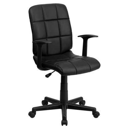 - Flash Furniture Mid-Back Quilted Vinyl Swivel Task Office Chair with Nylon Arms, Multiple Colors